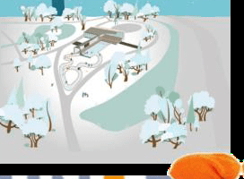 Winterterras in het Oranjepark