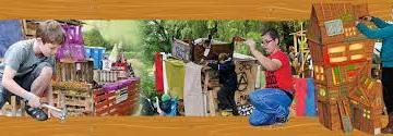 Timmeren, zagen en bouwen in het Kidsbouwdorp